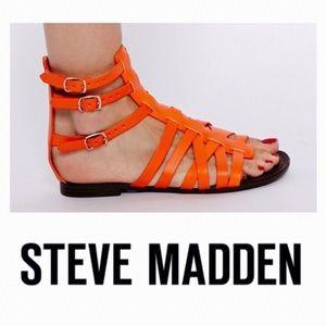 Steve Madden Orange Plato Gladiator Sandals